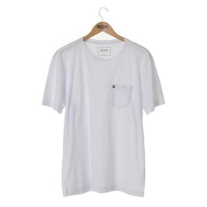 Camiseta Básica Com Bolso Relaxed Shorts Branca