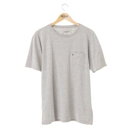 Camiseta Básica Com Bolso Relaxed Shorts Cinza