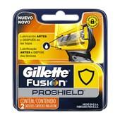 Carga Gillette Fusion Proshield com 2 cartuchos