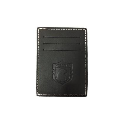 Carteira de Couro Compacta Party Wallet Nordweg Preto NW009