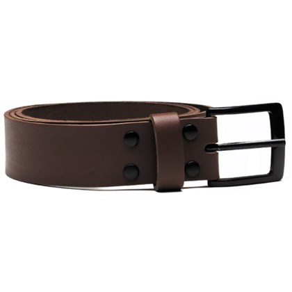 Cinto Key Design Belt Slim Marrom