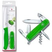 Conjunto Victorinox Color Twins Verde com Canivete Spartan e Faca 1.8901.L4
