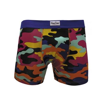 Cueca Happy Socks Bark Boxer Brief Camuflada MUWJB-CAM-901