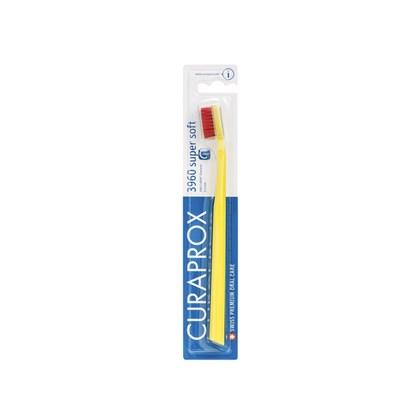 Escova Dental Curaprox 3960 Super Soft Amarelo e Vermelha