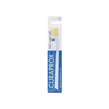 Escova Dental Curaprox 3960 Super Soft Azul Claro e Amarela