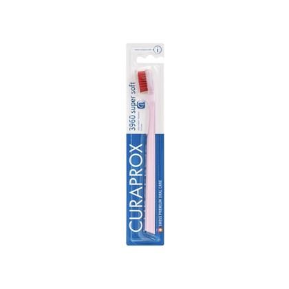 Escova Dental Curaprox 3960 Super Soft Rosa Claro e Vermelha