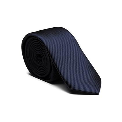 Gravata Key Design Slim 5cm Seda Navy Marinho