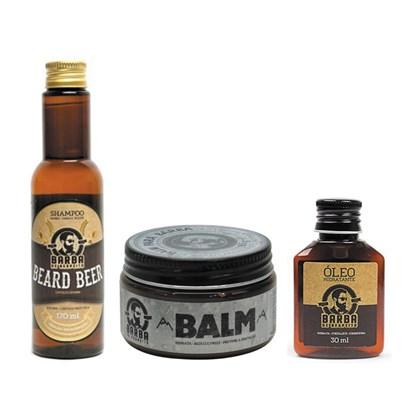 Kit Barba e Cabelo Shampoo De Cerveja Balm e Óleo Barba De Respeito