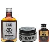 Kit Barba e Cabelo Shampoo Ice Balm e Óleo Barba De Respeito