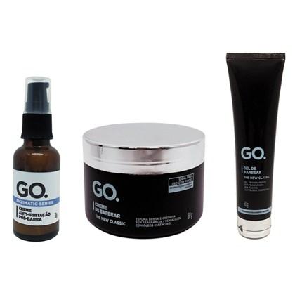 Kit Creme Anti-Irritação Barbear e Gel GO