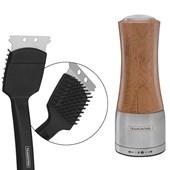 Kit Escova Limpeza Para Grelha e Moedor Simples Bambu Sal ou Pimenta Tramontina