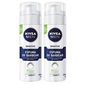 Kit Espuma de Barbear Nivea Men Sensitive 200ml