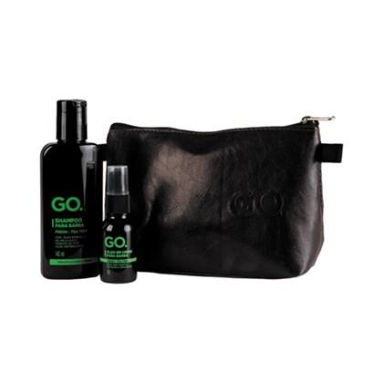 Kit Nécessaire Shampoo para Barba e Óleo Tea Tree GO