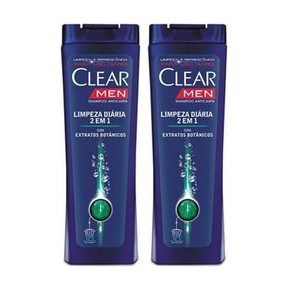 Kit Shampoo Anticaspa Clear Men 2 em 1 Limpeza Diária 400ml