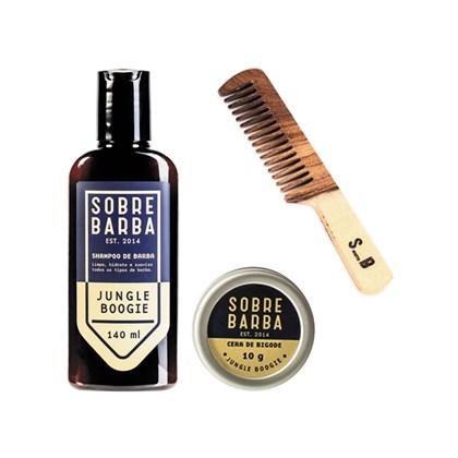 Kit Shampoo Cera e Pente de Bolso JB Sobrebarba