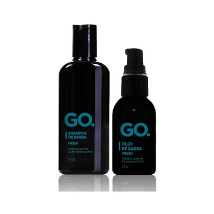 Kit Shampoo e Óleo de Barba GO Fresh
