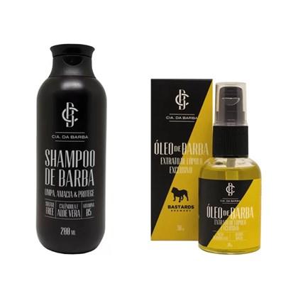 Kit Shampoo e Óleo de Barba Lúpulo Cia. da Barba