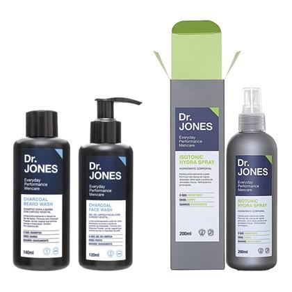 Kit Shampoo Gel Carvão Vegetal e Hidratante Corporal Dr. Jones