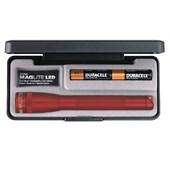 Lanterna Mini MagLite c/Led Profissional Vermelha Luxo 2AA
