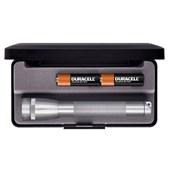 Lanterna Mini MagLite Profissional Prata Luxo 2AA