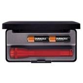 Lanterna Mini MagLite Profissional Vermelha Luxo 2AA