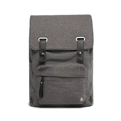 Mochila Masculina SoftPack Moletom Key Design Cinza Escuro