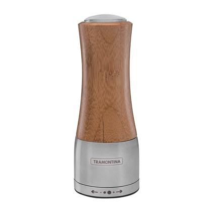 Moedor Simples Aço Inox e Bambu Sal ou Pimenta Tramontina 61652/000