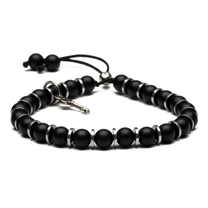 Pulseira Key Design Cassandre Silver Black