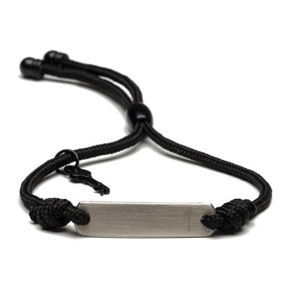 Pulseira Key Design Crhistian Silver Rope Preto