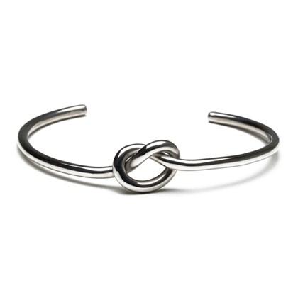 Pulseira Key Design Cuff Knot Prata