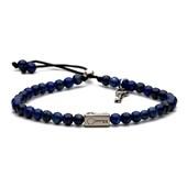 Pulseira Key Design Kennedy Silver Azul