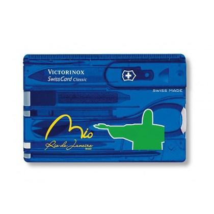 SwissCard Classic Victorinox Translúcido Azul Rio