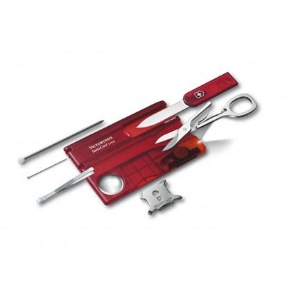 SwissCard Lite Victorinox Translúcido Vermelho